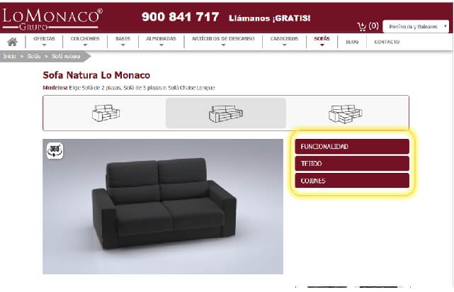 Achetez en ligne votre canapé 3